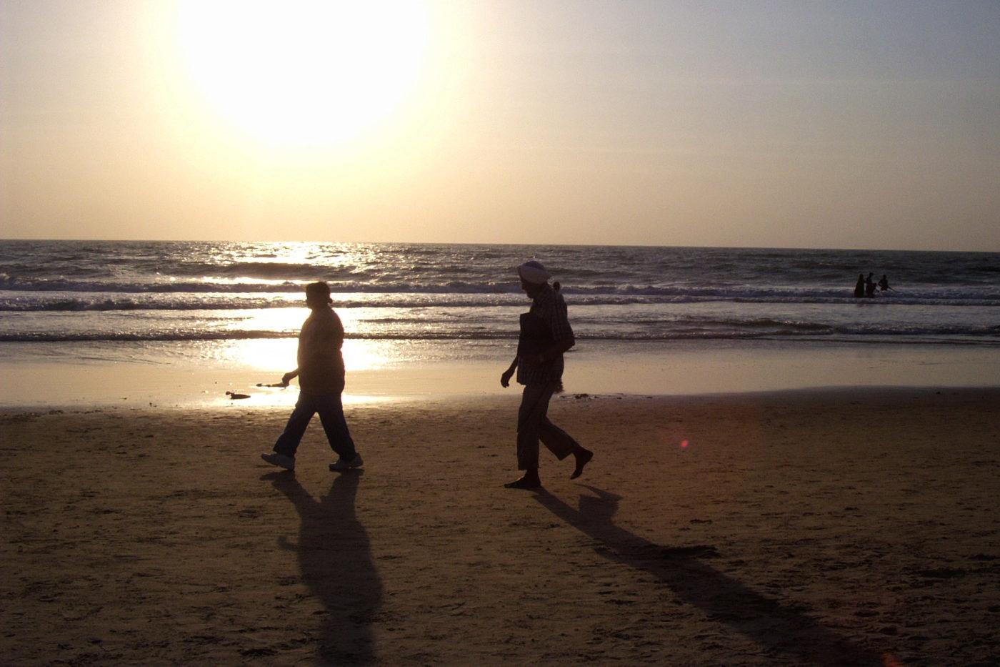 Tramonto sul mare Goa India
