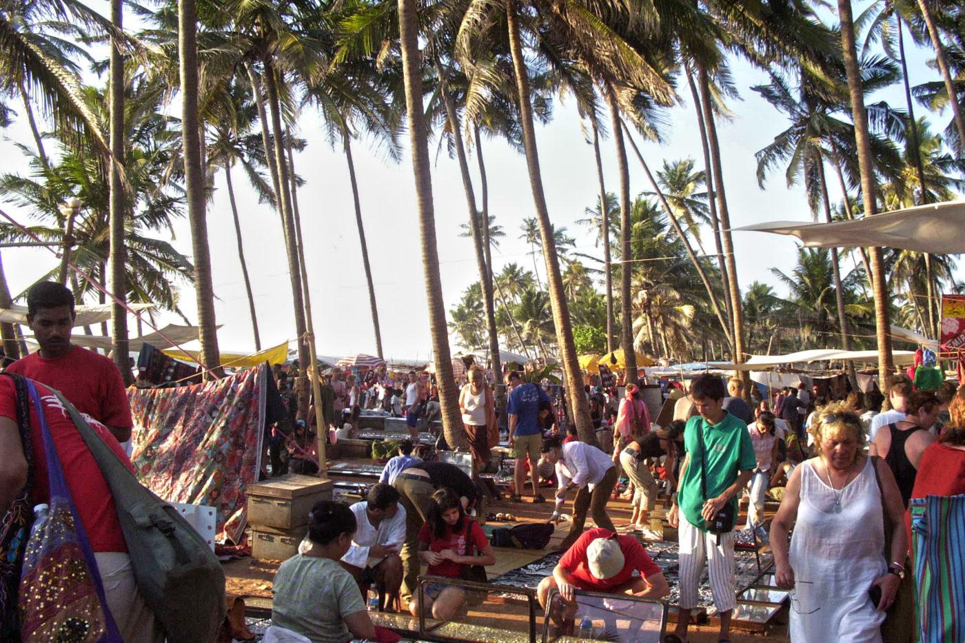Mercato del mercoledì Goa India