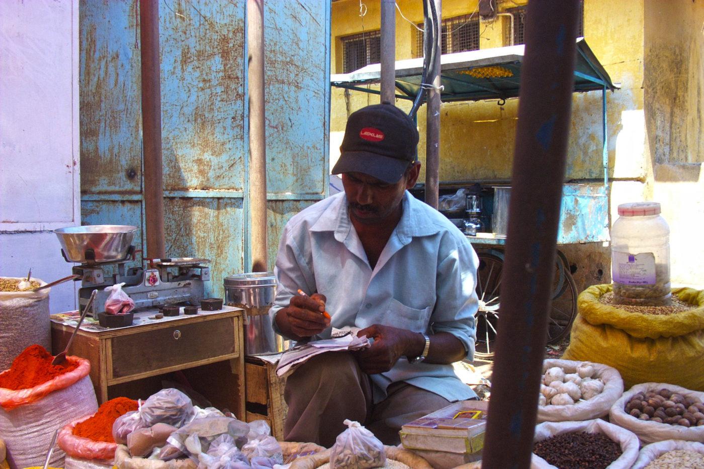 Venditore di spezie Goa India