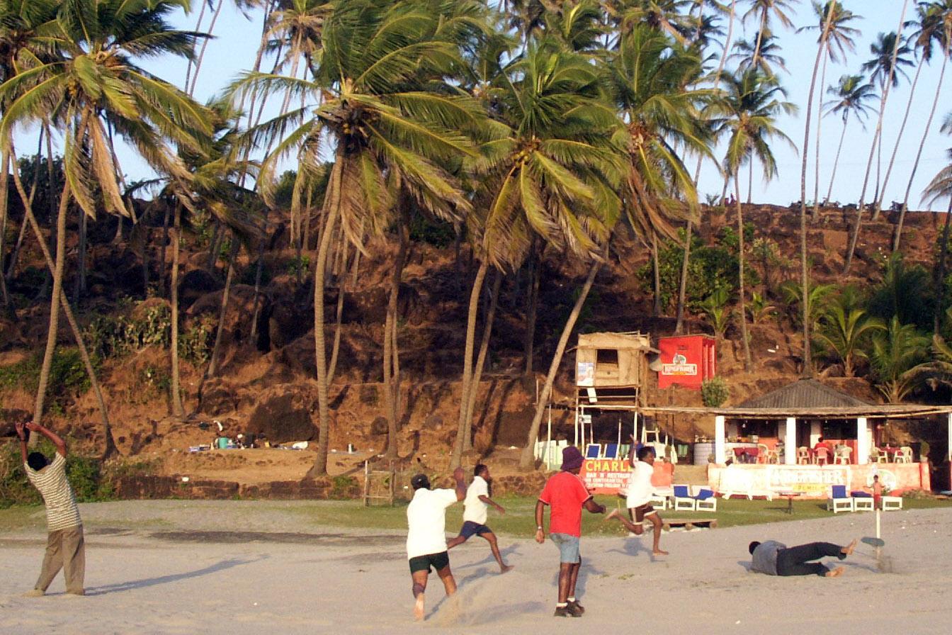 Partita di calcio Goa India