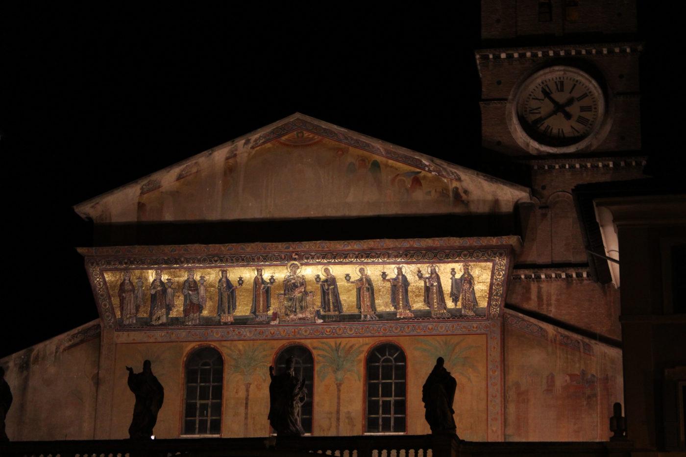Roma di Notte Santa Maria in Trastevere