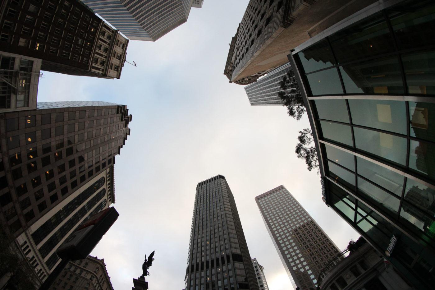 San Francisco Grattacieli dal basso