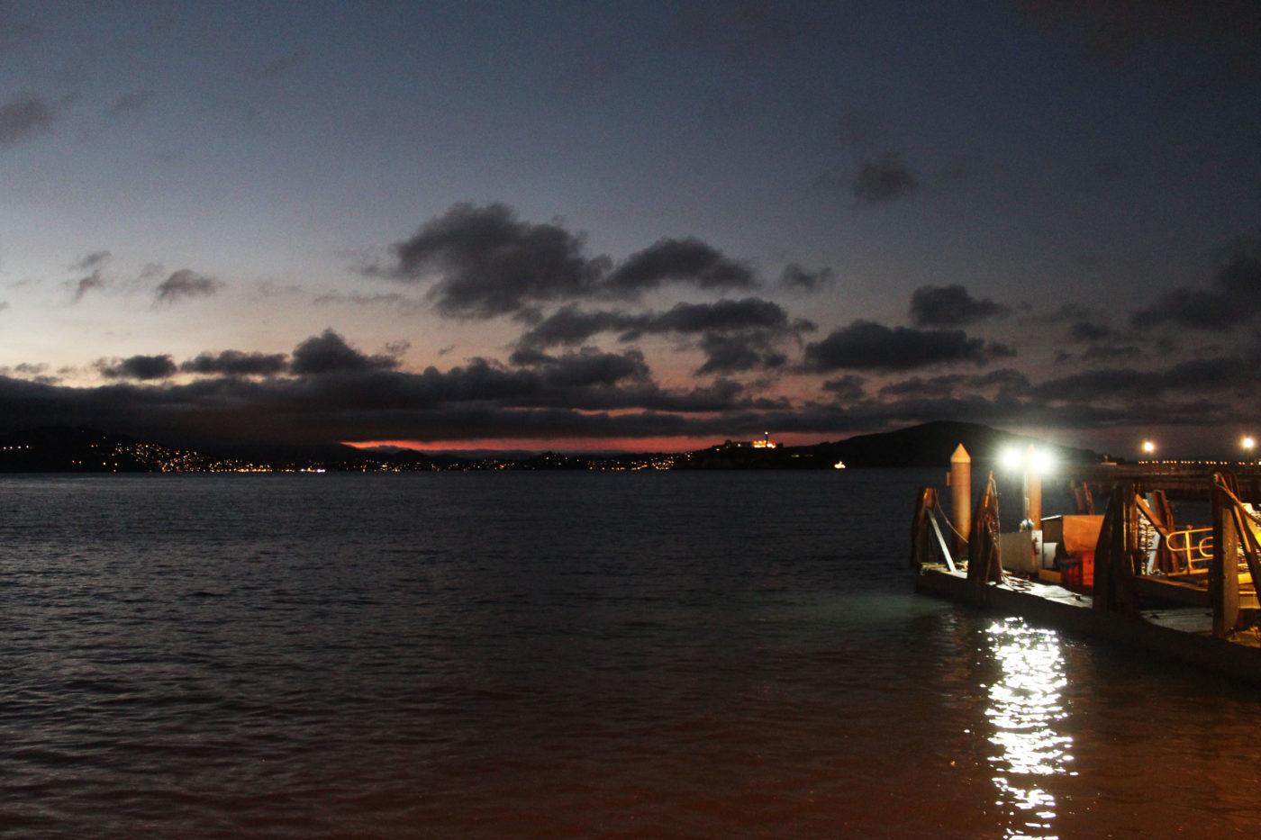 San Francisco vista della baia di notte