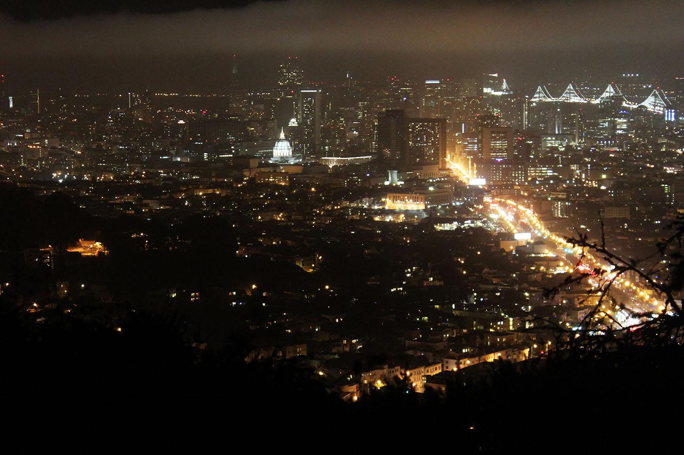 San Francisco vista notturna
