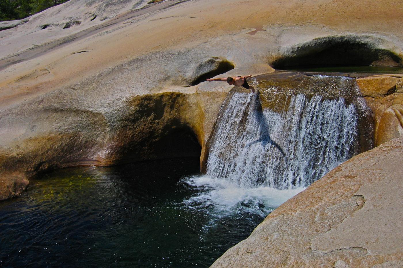 Cascata Fiume tuffo Granito Trekking Yosemite California