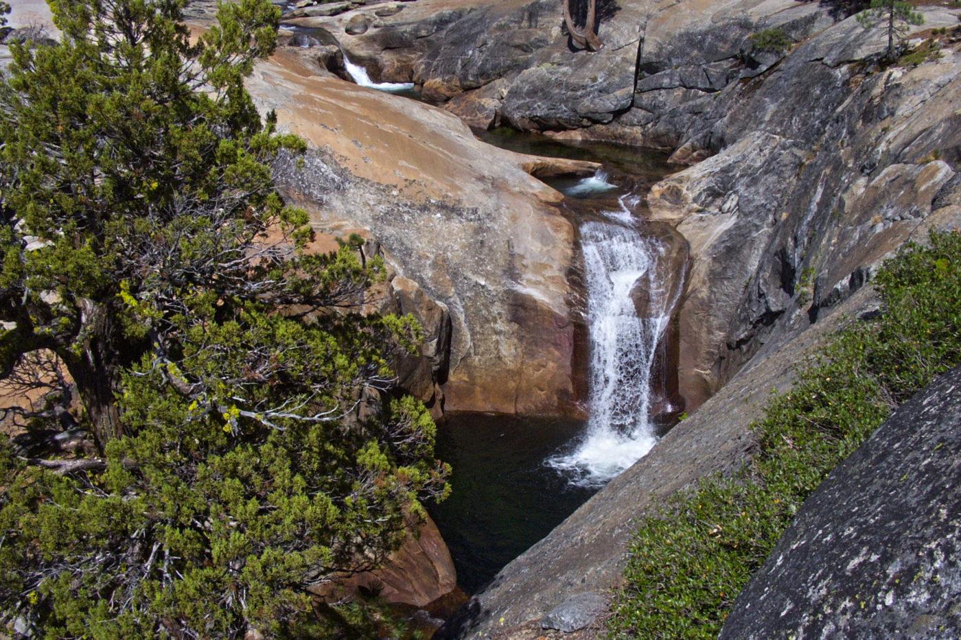 Cascata Fiume Granito Trekking Yosemite California