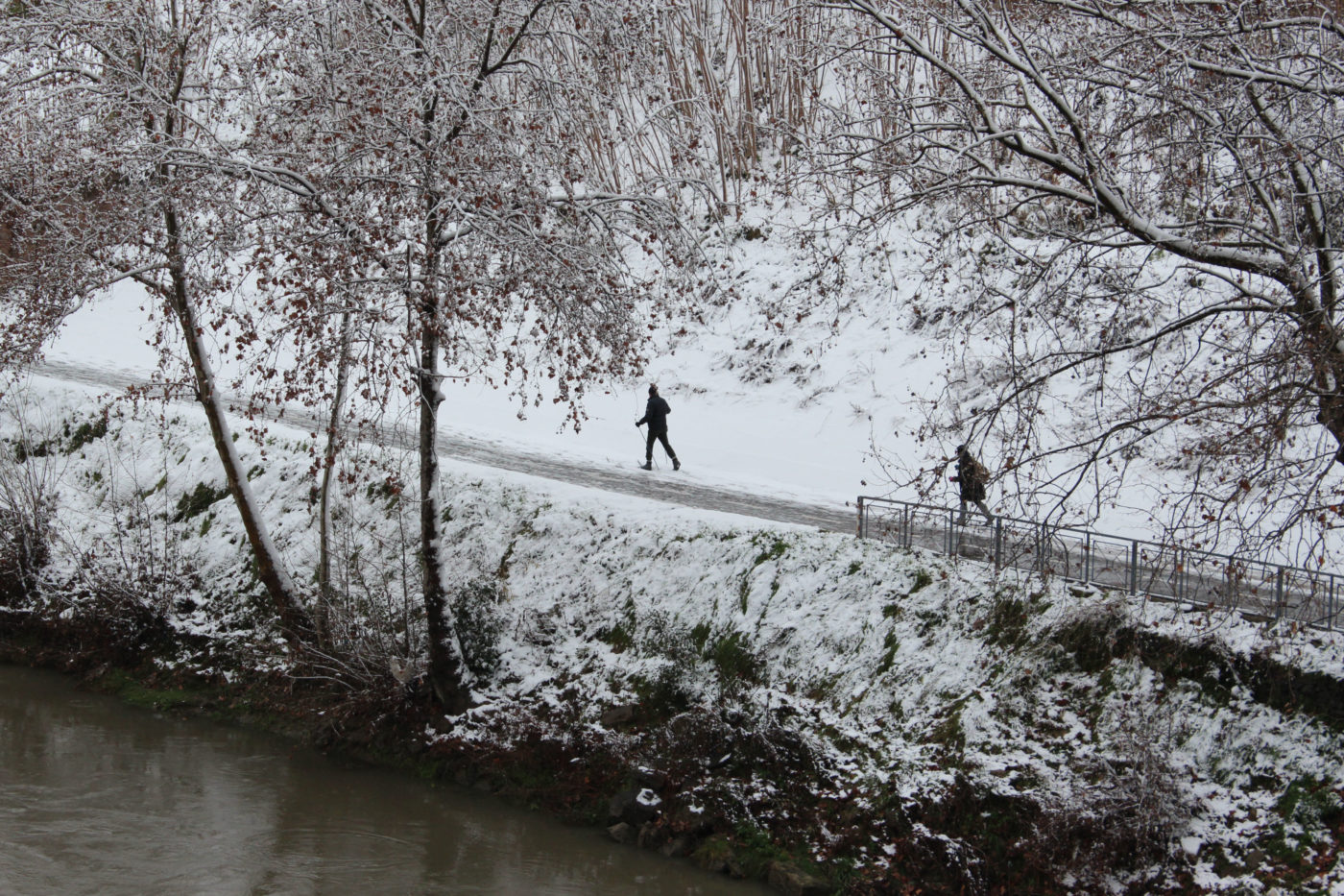 Roma con la neve 2012 Tevere