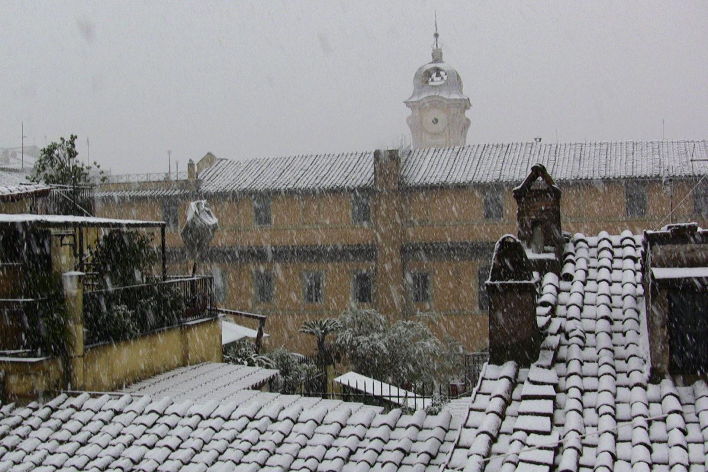 Il centro di Roma con la neve 2010